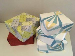 boites en papier peint upcycling