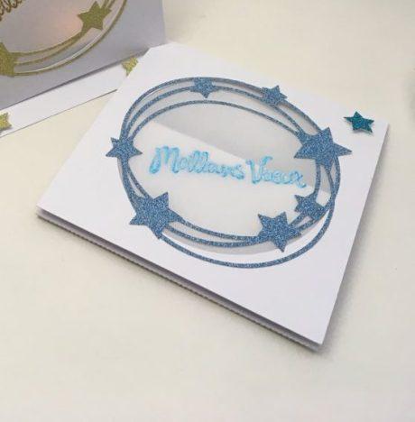 carte photophore bleu