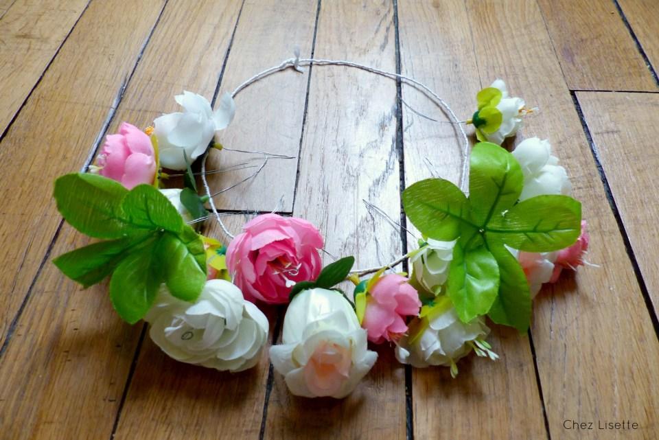 Ches Lisette DIY couronne de fleurs