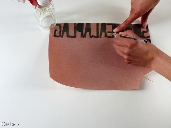 Chez Lisette DIY sac en tissu de plage tracer
