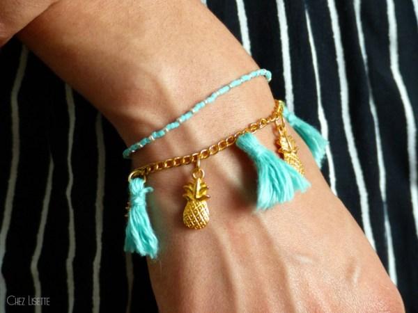chez lisette diy bracelet ananas porté2
