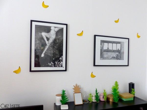 Chez Lisette DIY déco tropicale en papier bananes