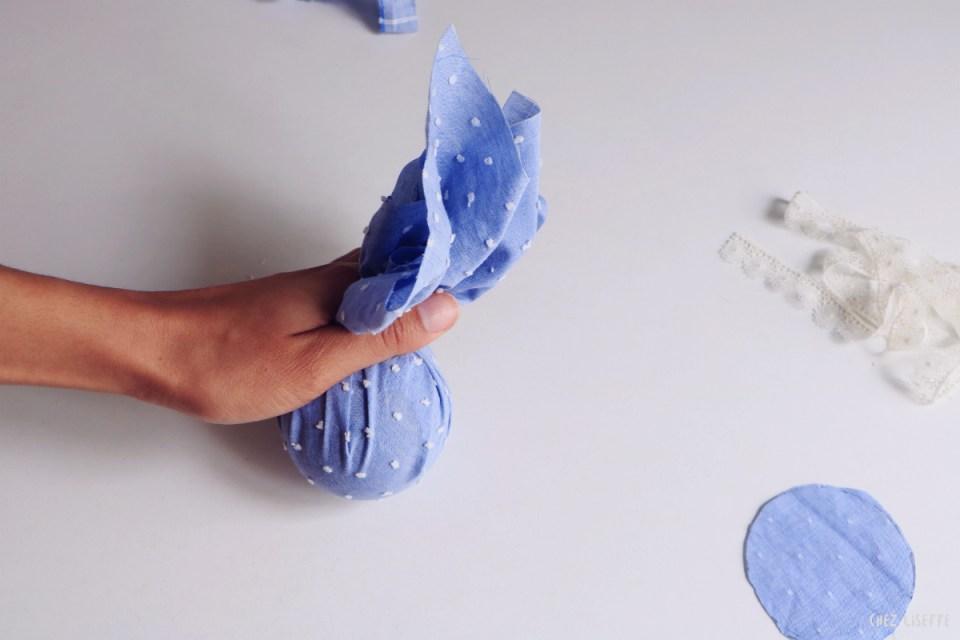 Chez Lisette DIY boules de Noël en tissu 14