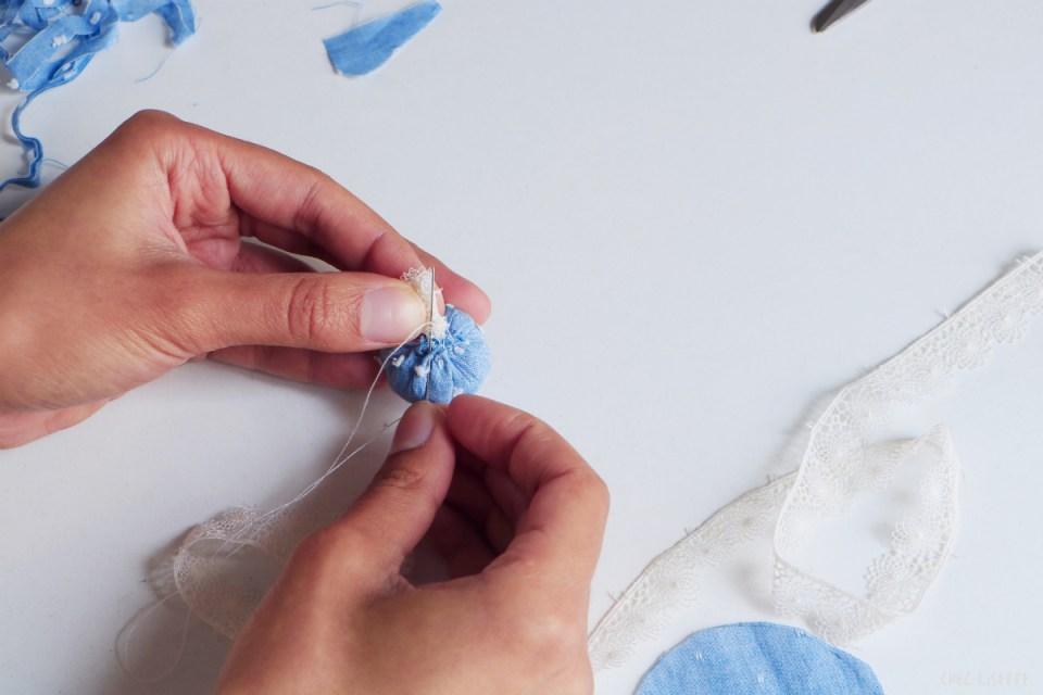 Chez Lisette DIY boules de Noël en tissu 9