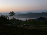 lever de soleil sur les Pyrénées ..;