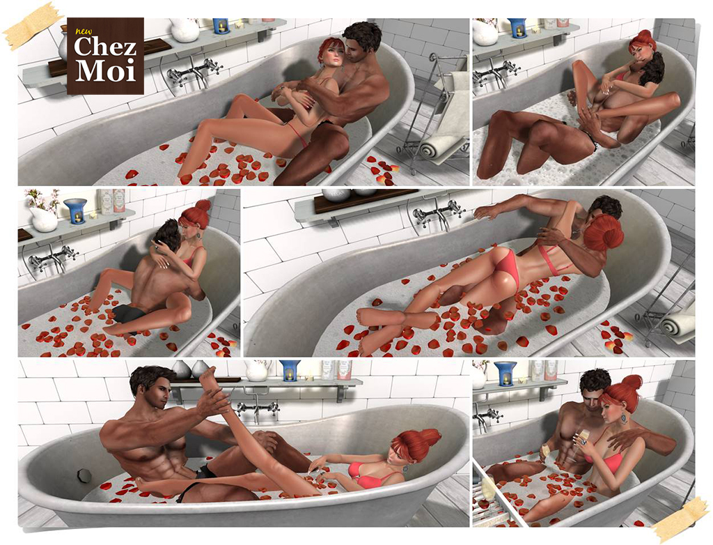 Supreme Bathtub Couple Poses CHEZ MOI