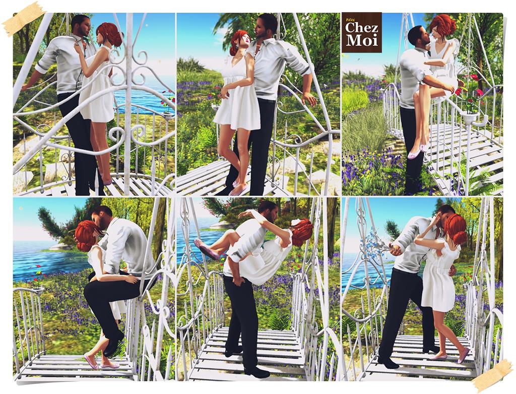 Iron Garden Bridge Couple Poses CHEZ MOI