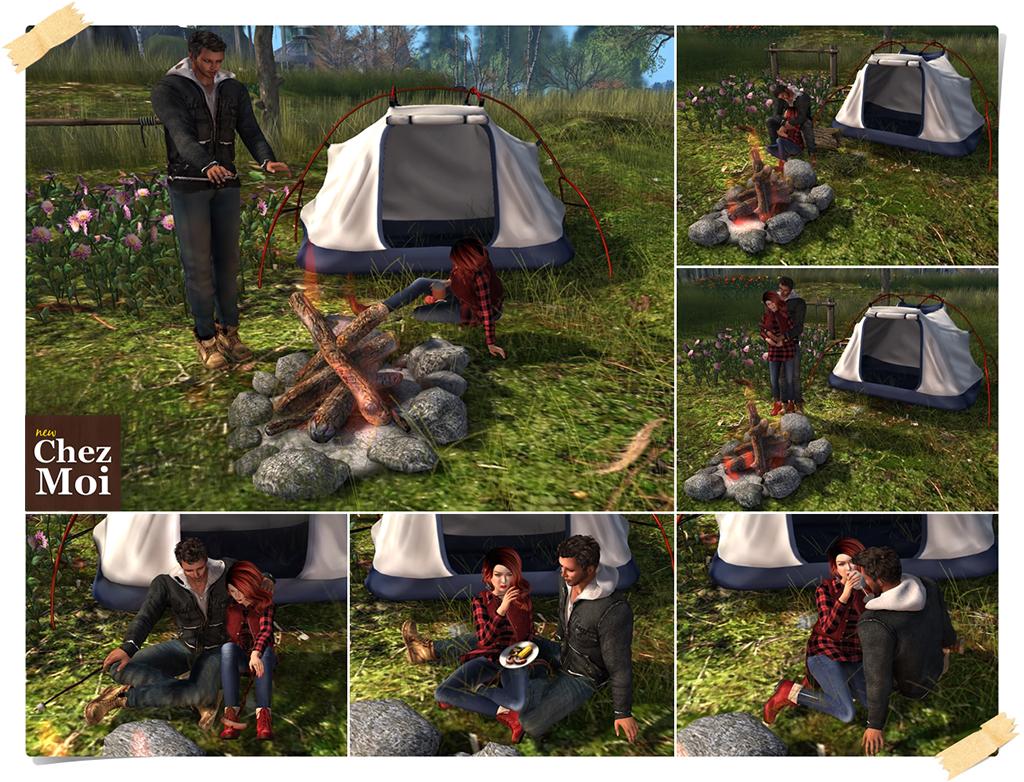 Campfire Couple Poses CHEZ MOI