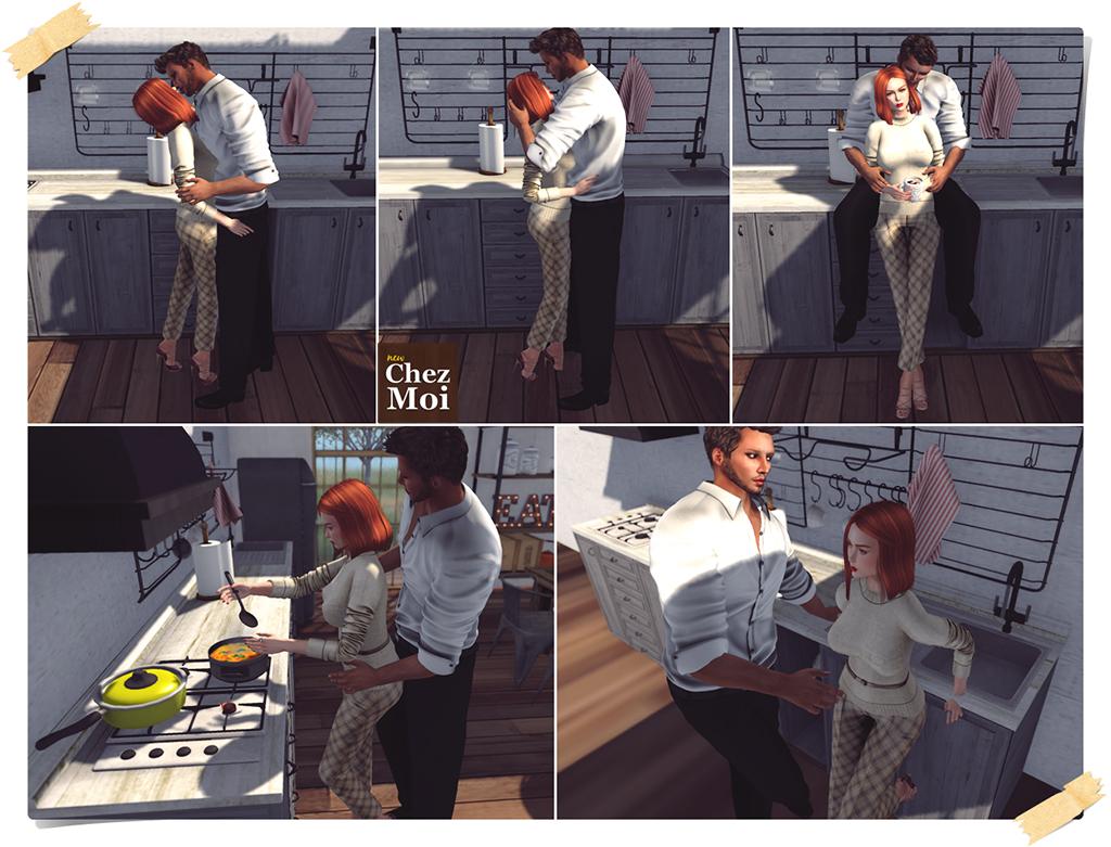 Industrial Kitchen Couple Poses CHEZ MOI