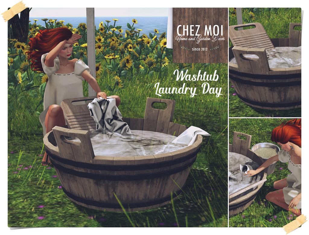 Wash Tub Laundry Day CHEZ MOI