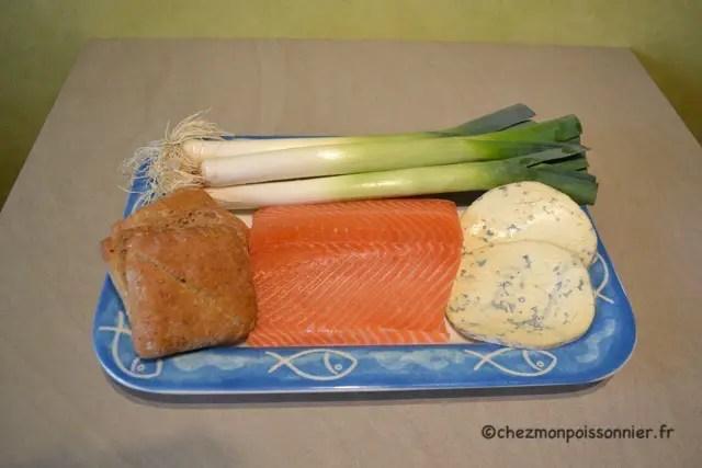 ingrédients du burger au saumon