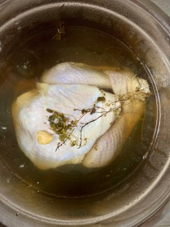 Let the turkey in the brine for 18-24 hours