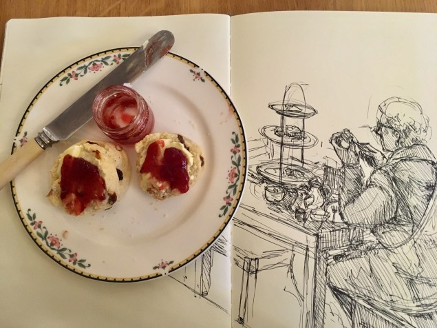 Scones and drawing