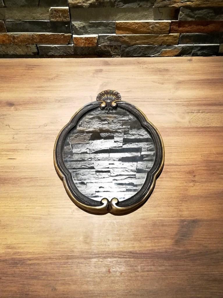 Petit miroir bronze location de décorations pour mariage Tours 37 indre et loire