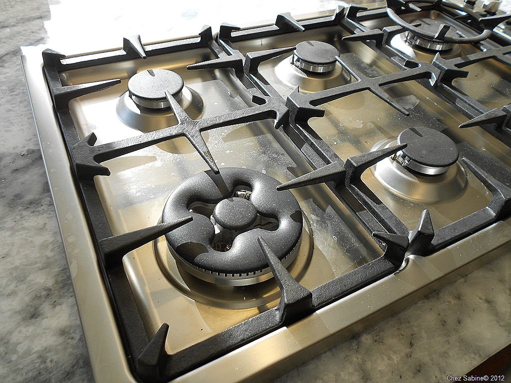 kitchen stove tops cabinets styles clean that stainless steel top the easy breezy way chez sabine 1