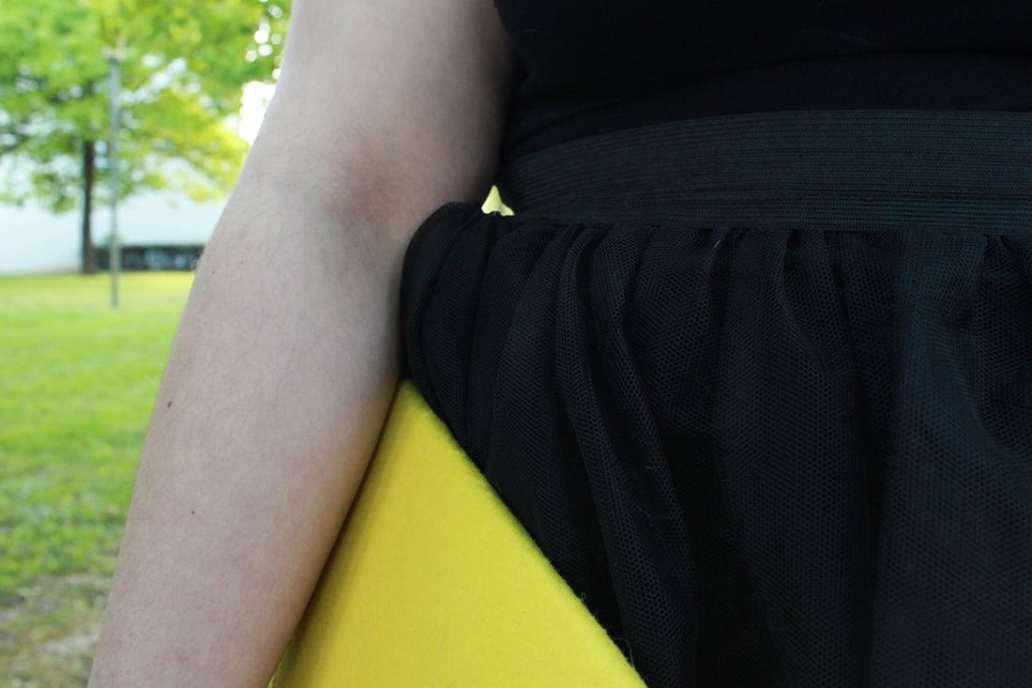 Zoom sur lelastique du tutu - Fabriquer un tutu, le DIY malin