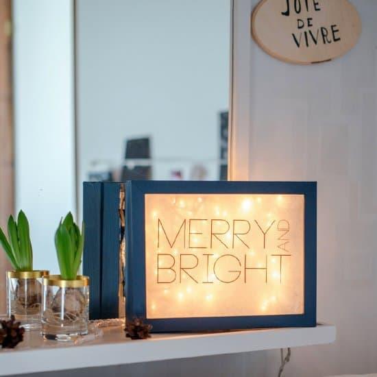 light box noel - Noël : 11 DIY faciles pour une déco réussie