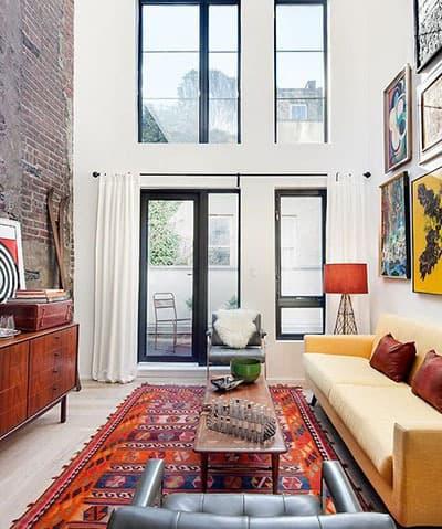 tapis couleurs pour un salon colore - Pinterest : ajouter de la couleur dans le salon