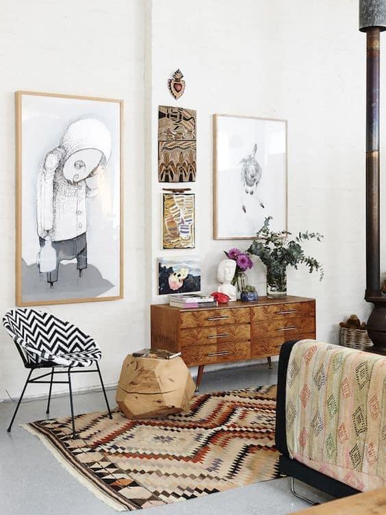 un salon boheme  - Un intérieur bohème pour une impression de voyage