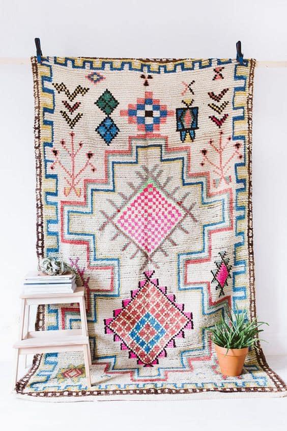 un tapis berbere pour une decoration boheme - Un intérieur bohème pour une impression de voyage