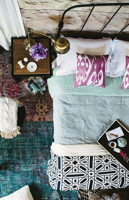 une chambre boheme coloree - Un intérieur bohème pour une impression de voyage