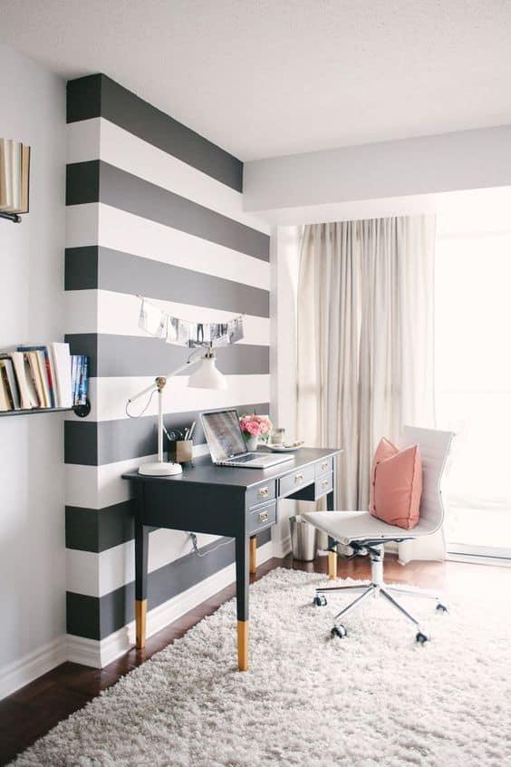 un bureau avec une deco personnalisee et originale - Pinterest : installer un bureau dans un petit espace