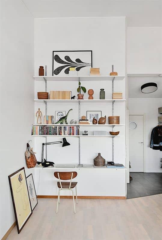 un bureau dans un petit espace tres organise - Pinterest : installer un bureau dans un petit espace