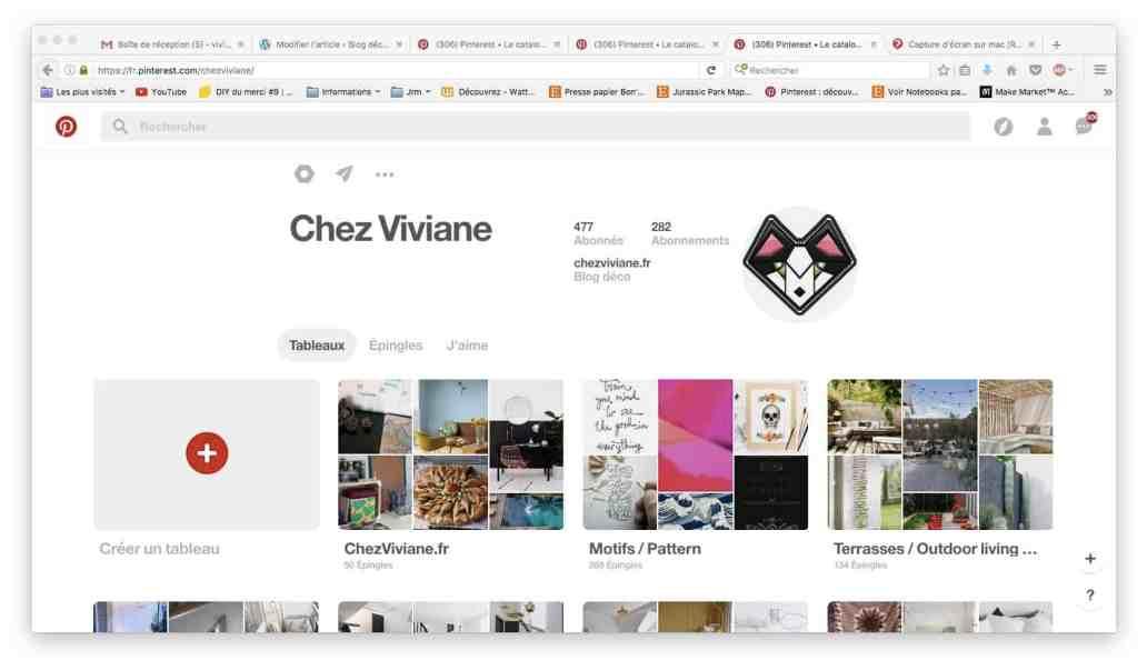 PINTEREST CHEZVIVIANE - Astuce : comment s'organiser pour écrire sur un blog