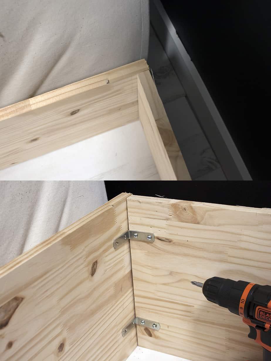 construction cadre lit escamotable etape 1 - Le lit escamotable, comment le fabriquer soi-même