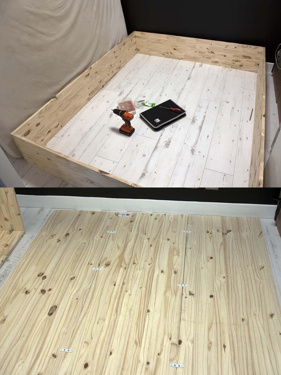 construction fond lit escamotable etape 1 - Le lit escamotable, comment le fabriquer soi-même