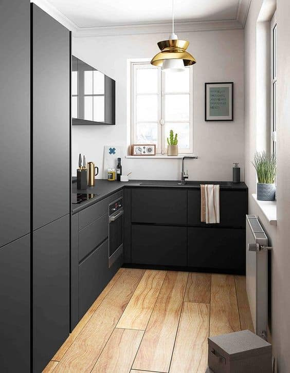 cuisine mobilier noir - Noir : comment bien intégrer cette couleur à sa décoration