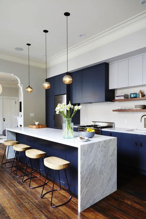 du marbre sur ilot central cuisine - 8 façons de mettre en valeur l'ilot central de la cuisine
