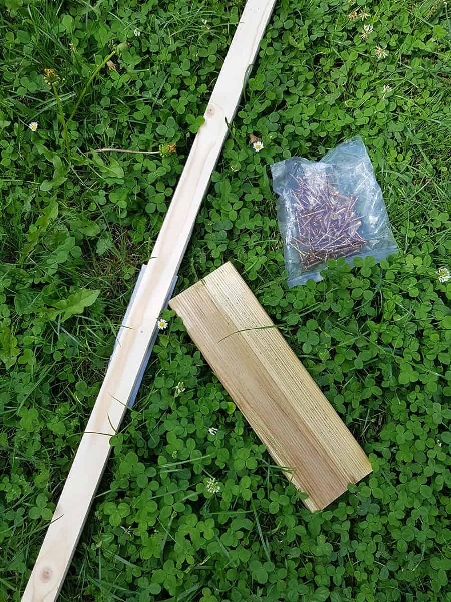 materiel vis tasseau bois - DIY : fabriquer une jardinière en bois pour le jardin
