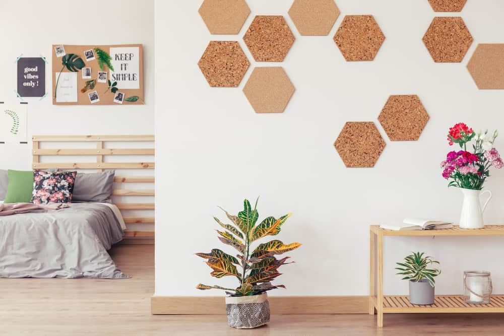 DIY hexagon liege mur