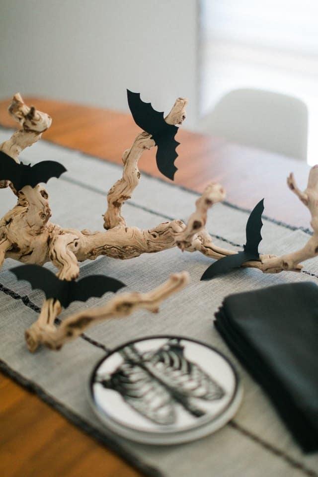 idees diy halloween deco de table chauve souris - 7 idées DIY pas chères pour Halloween