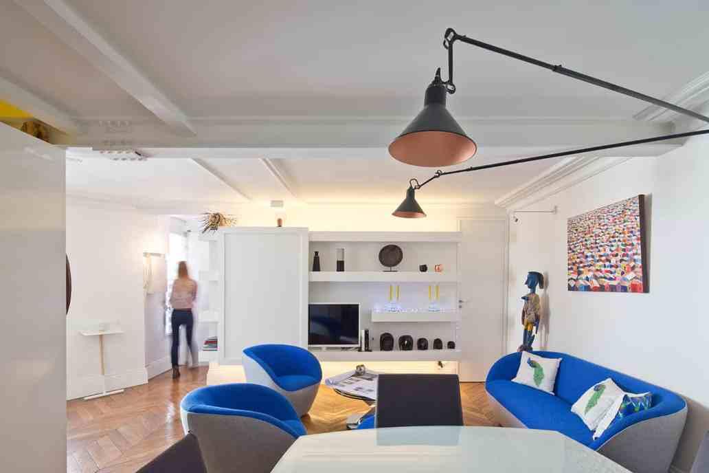 appartement parisien design © Jonathan Letoublon Architecte Antonin Ziegler via Archibien 5 - Visite d'un appartement Archibien à Paris
