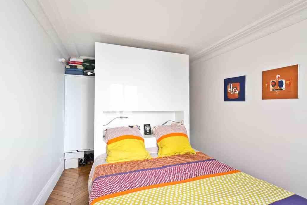 chambre visite dun appartement parisien © Jonathan Letoublon Architecte Antonin Ziegler via Archibien 14 - Visite d'un appartement Archibien à Paris