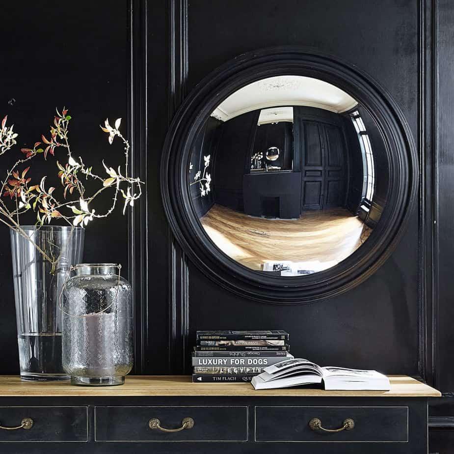 miroir convexe en bois noir d 90 cm vendome 1500 14 19 155122 10 - 10 idées de cadeaux déco à offrir pour Noël