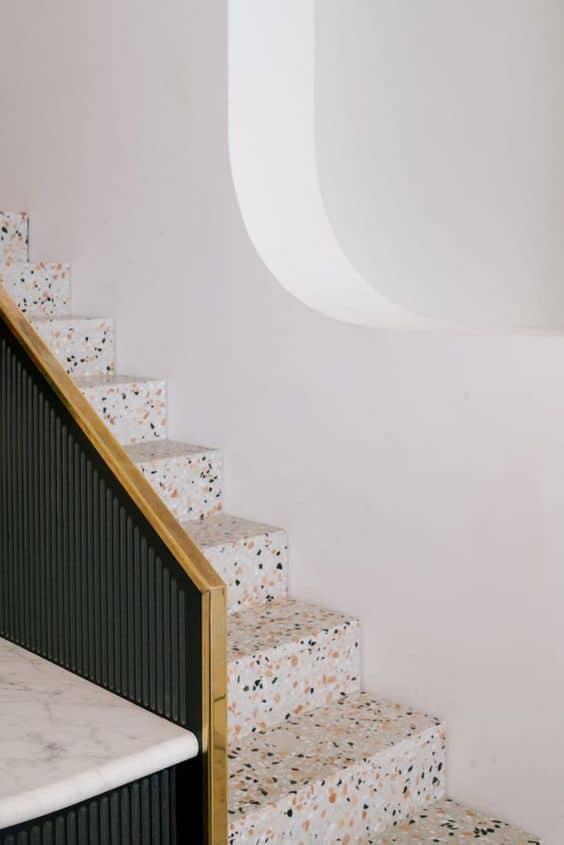 escalier terrazzo - La tendance terrazzo s'invite dans toute la maison