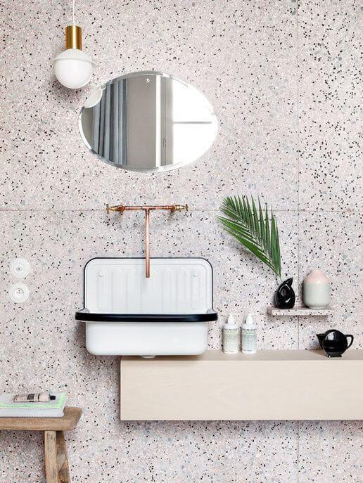salle de bains terrazzo carrelage - La tendance terrazzo s'invite dans toute la maison