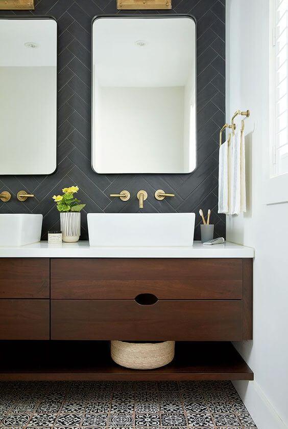 meubles de salle de bains en bois - Choisir les meubles de la salle de bains
