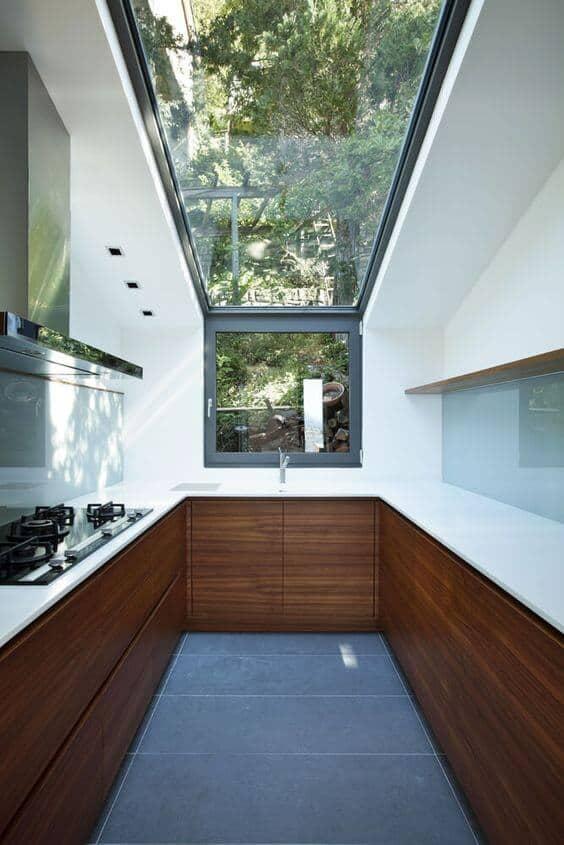 aménager une cuisine dans une pièce étroite et design  - Aménager une cuisine dans une pièce étroite