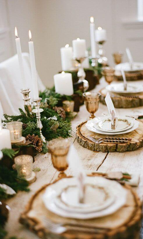 noel zero dechet deco table - Les 8 tendances déco Noël annoncées pour 2020