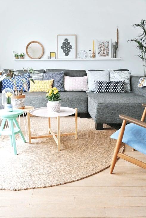 séjour avec mobilier de salon adapté à la décoration scandinave  - Quel mobilier de salon pour quel style de déco ?