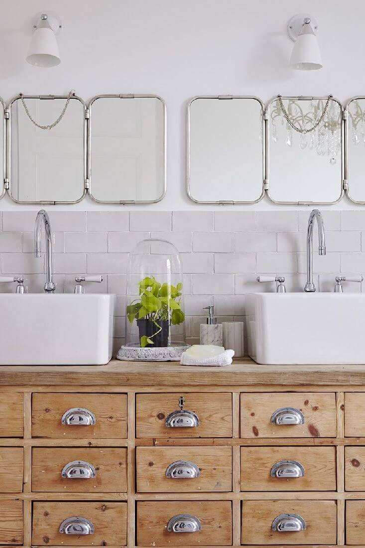 un meuble de metier detourne pour la salle de bains 6095301 2 - Salle de bains ancienne : 8 astuces pour la rénover !