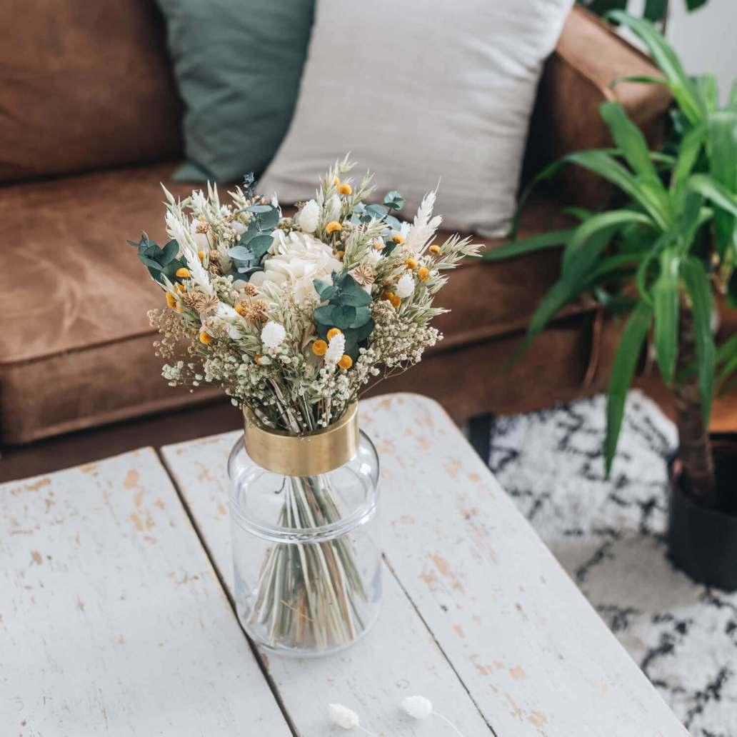 bouquet fleurs sechees emile de la marque flowrette - Laisser les fleurs séchées envahir la décoration