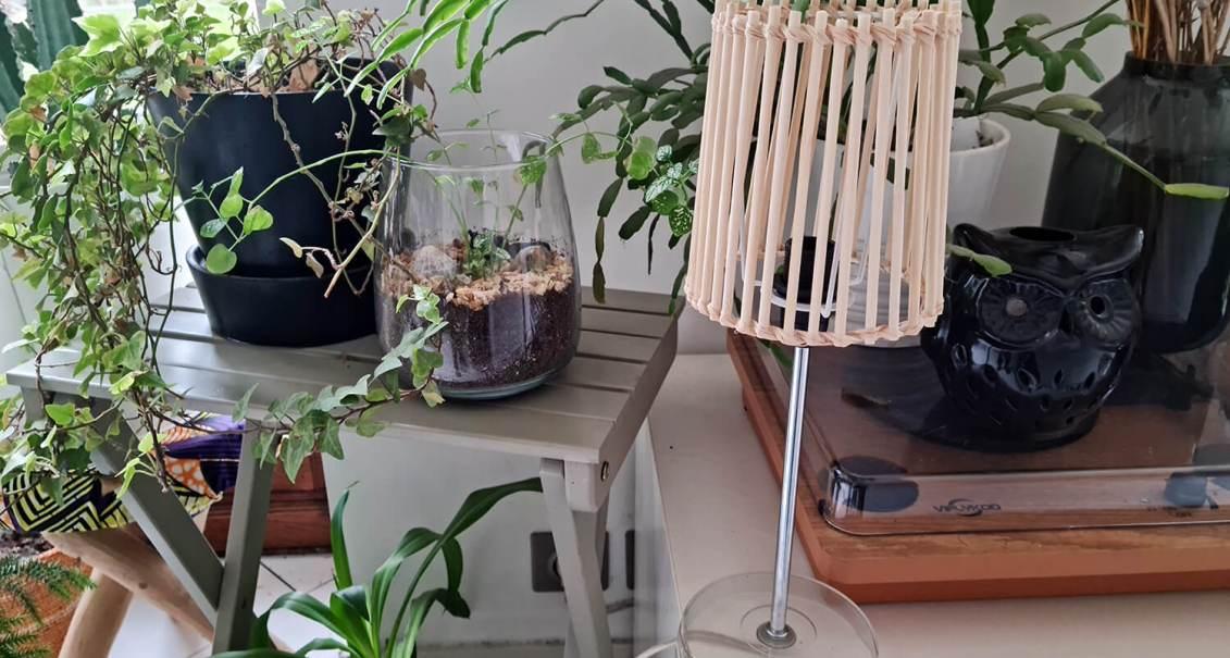 Fabriquer une lampe nature en bois pour diffuser une lumière douce
