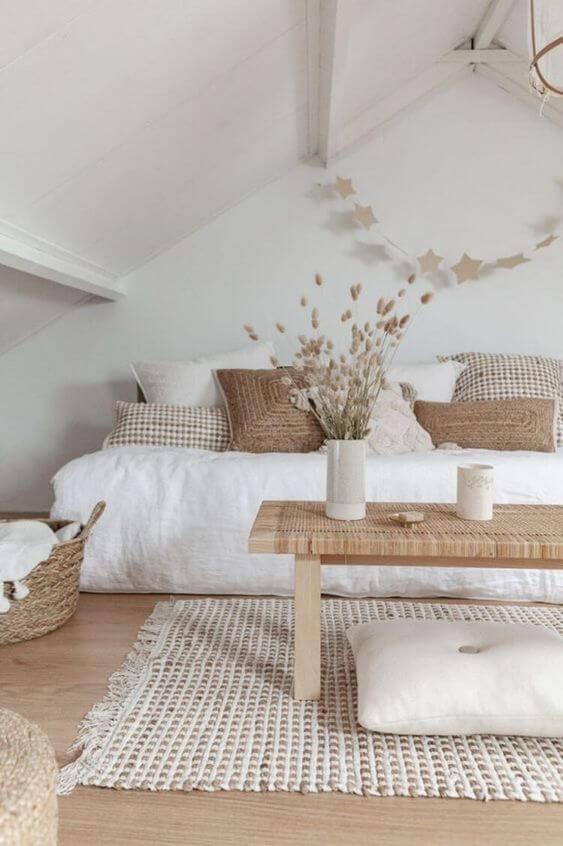 coin salon blanc et bois decoration hygge - Décoration Hygge : découvrez cette philosophie de vie venue du Danemark