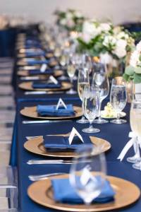 Navy and Gold Wedding Table Ideas | Chez Wedding Venue