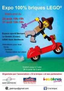 Exposition 100% Briques LEGO® G La Brique @ Espace Sportif Bernard - Saint Berthevin